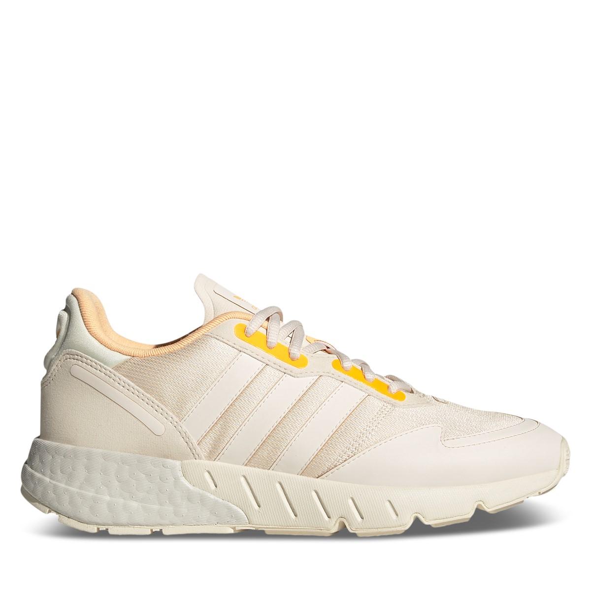 Women's ZX 1K Boost Sneakers in White/Beige/Orange