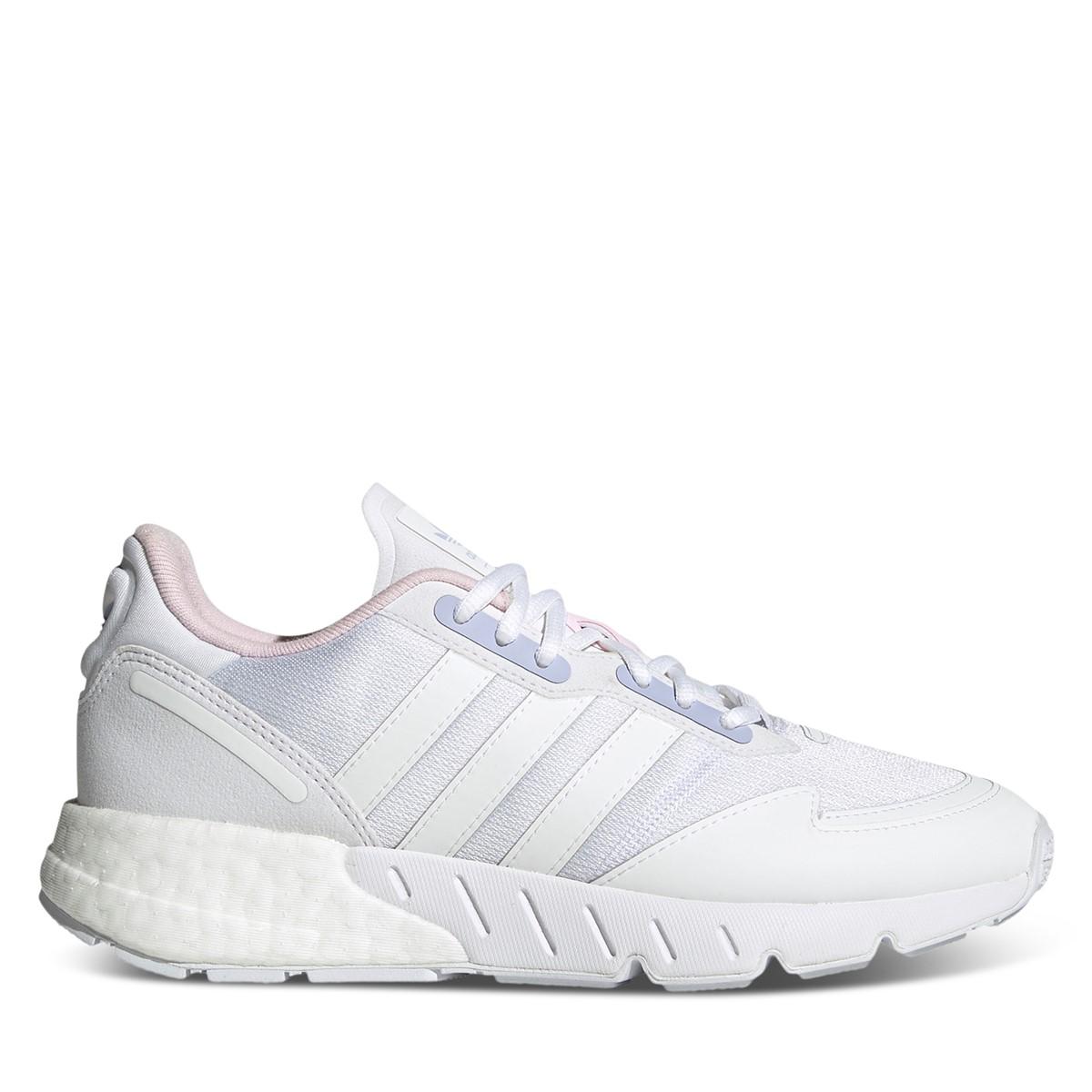 Women's ZX 1K Boost Sneakers in White/Purple