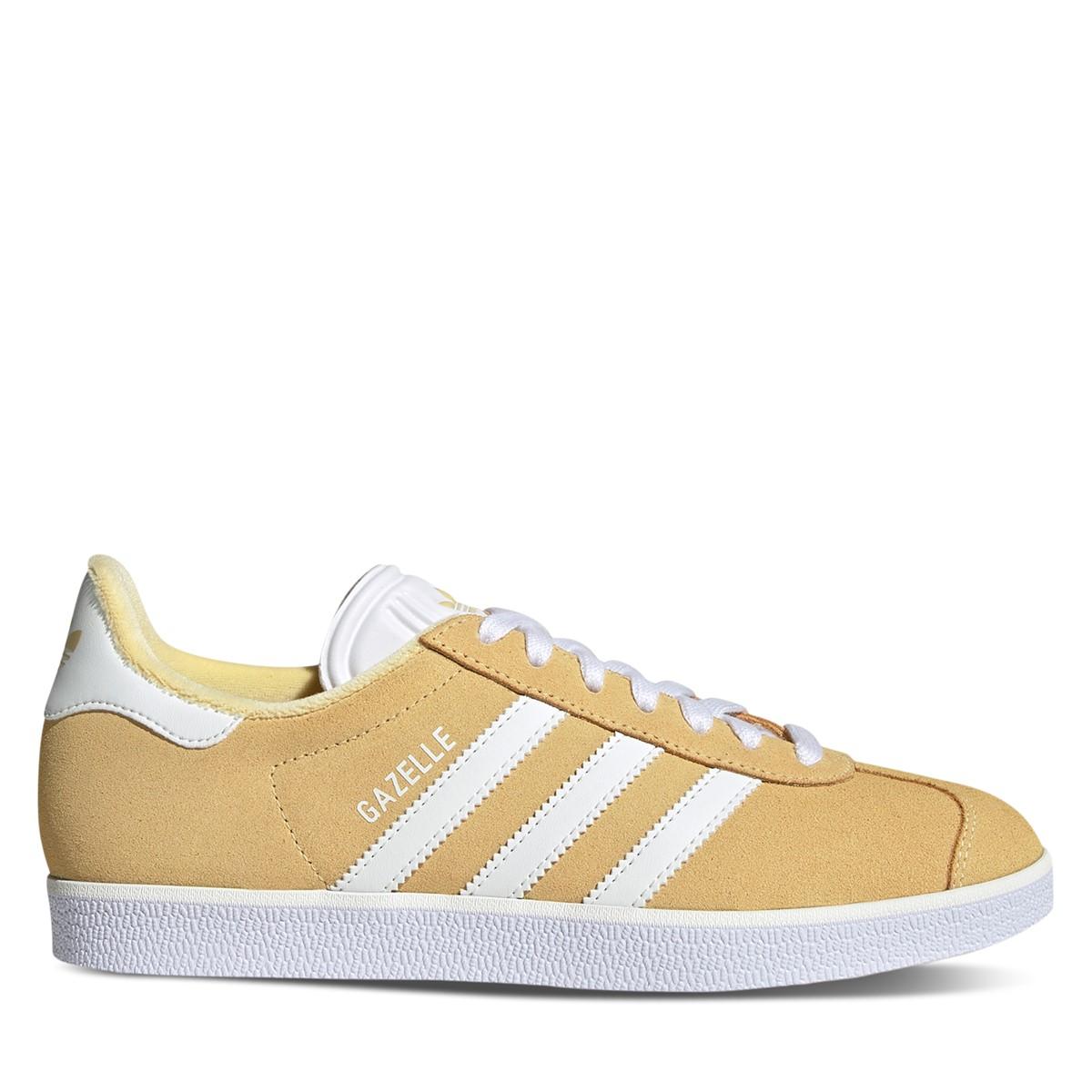 Women's Gazelle Sneakers in Yellow/ White