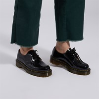 Chaussures richelieux 1461 Bex vernies noires pour femmes