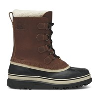 Men's Caribou Wool Winter Boots in Brown