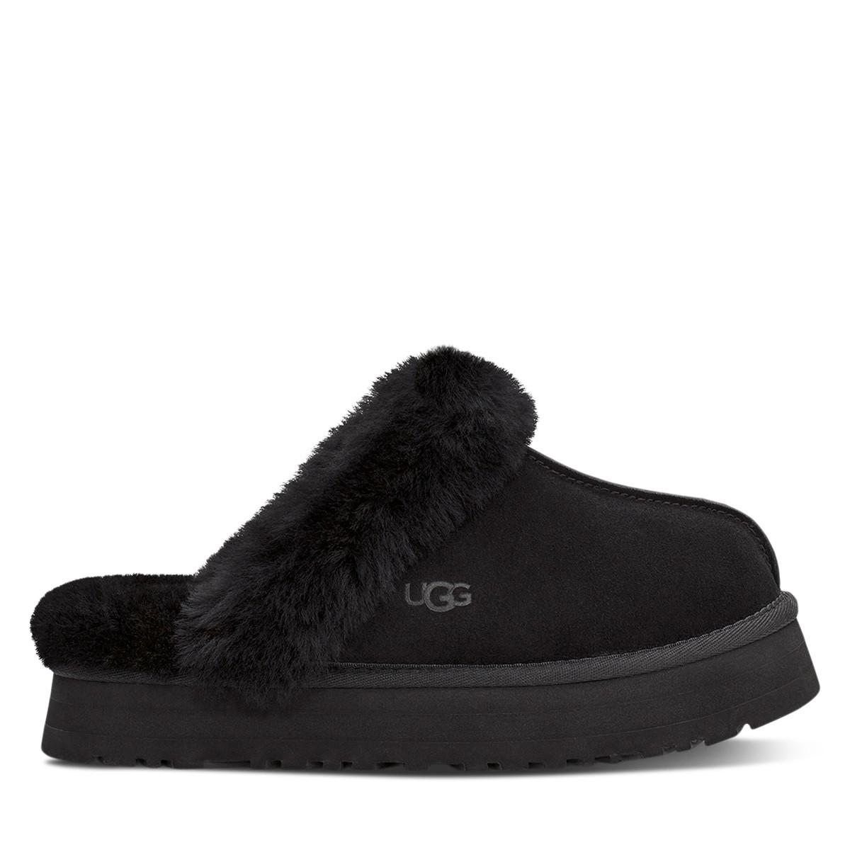 Women's Disquette Slippers in Black