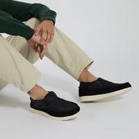 Baskets Moc-Sider Slip-On noires pour hommes