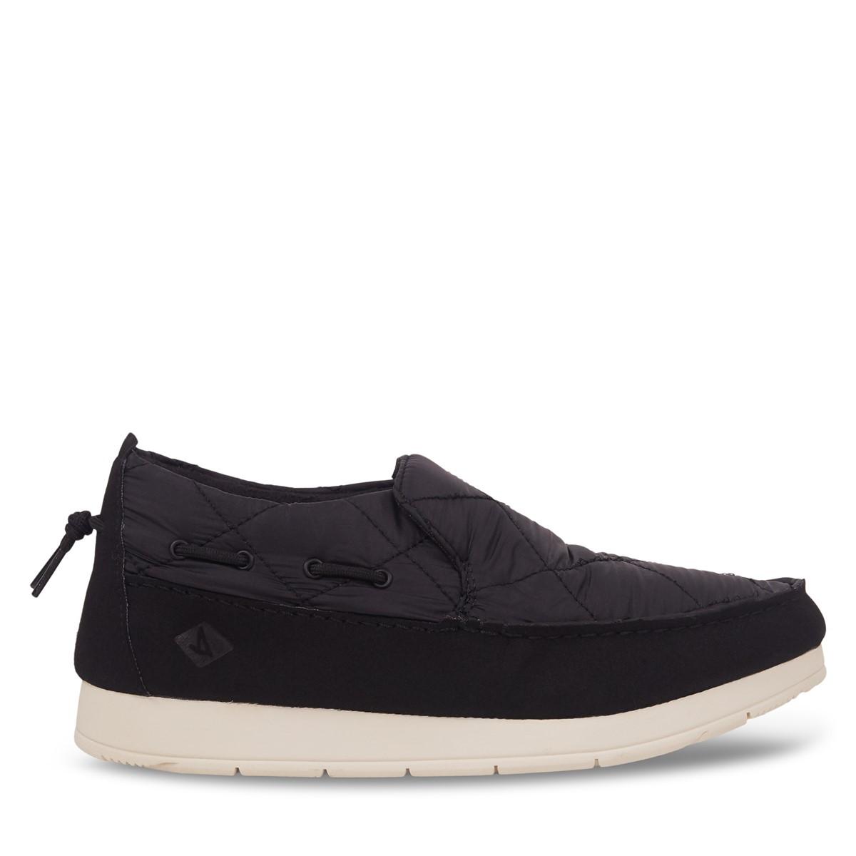 Men's Moc-Sider Slip-On Sneakers in Black