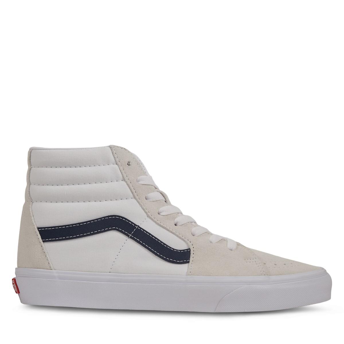 Classic Sport Sk8-Hi Sneakers in White/Blue