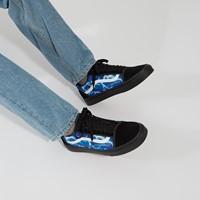 Lightning Old Skool Sneakers in Black/Blue