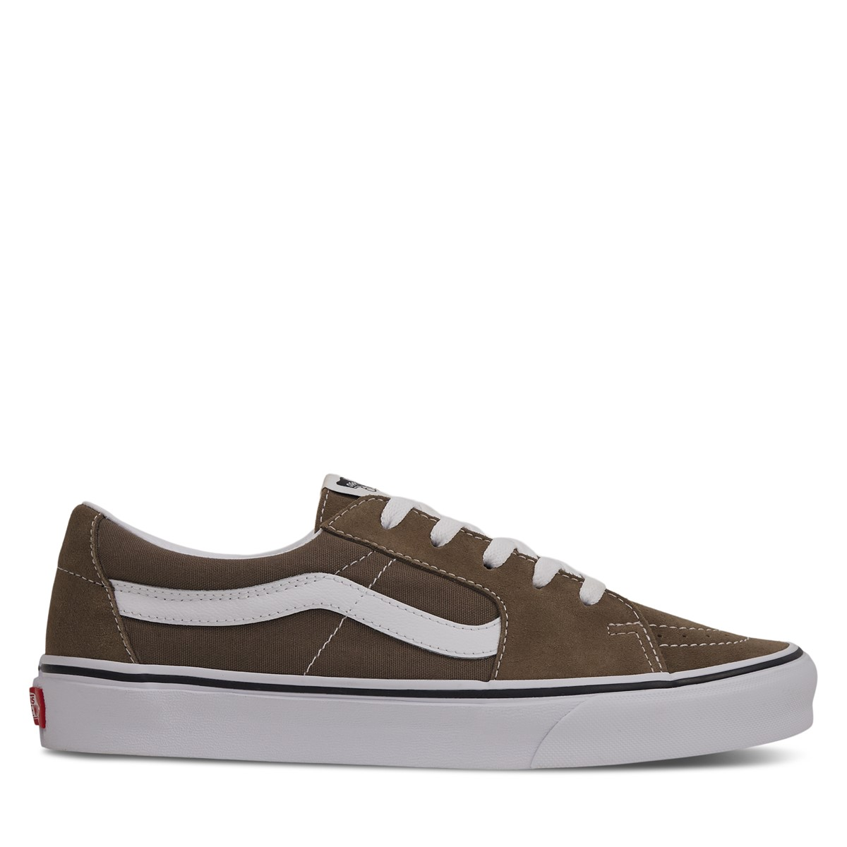 Sk8-Low Sneakers in Taupe/White
