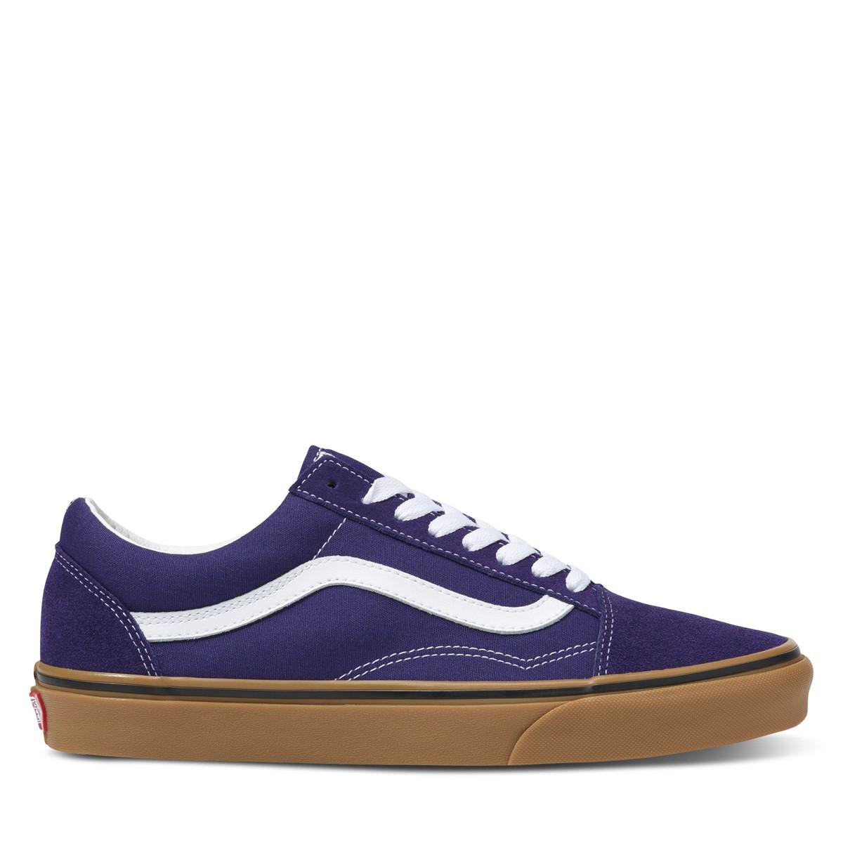 Gum Old Skool Sneakers in Navy/White