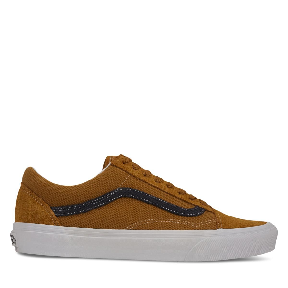 Men's Heavy Textures Old Skool Sneakers in Golden Brown/Black