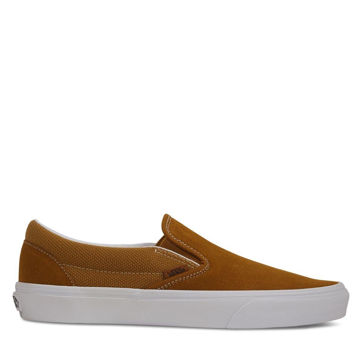 Men's Heavy Textures Slip-On Sneakers in Golden Brown