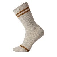 Women's Everyday Striped Cable Crew Socks in Ash
