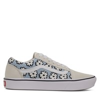ComfyCush Old Skool Mixed Cozy Floral Sneakers in Off-White/Pastel