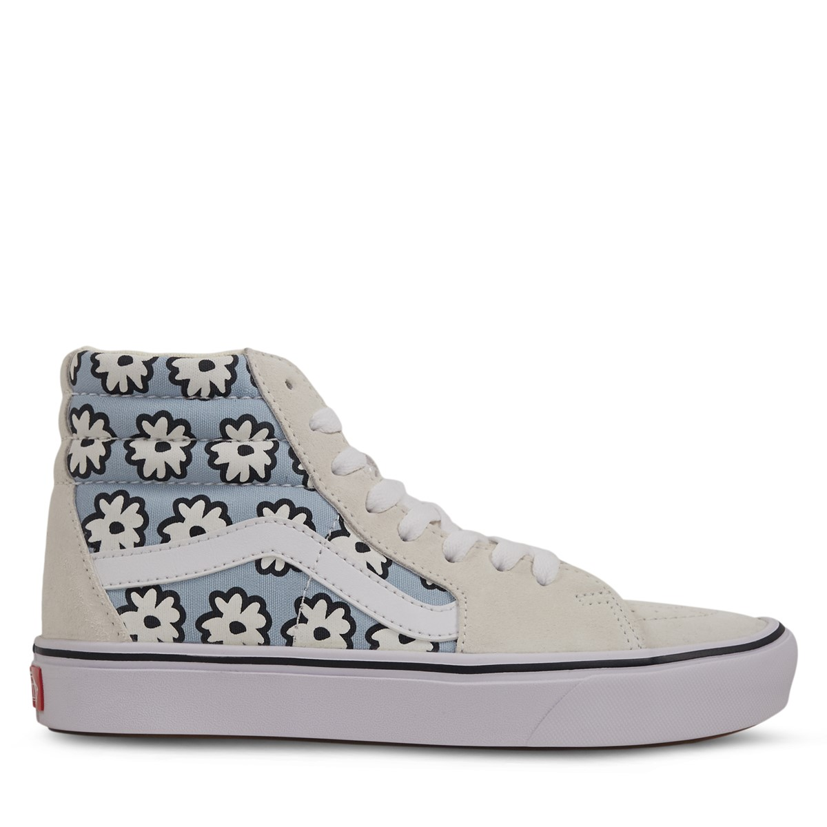 ComfyCush Sk8-Hi Mixed Cozy Floral Sneakers in Off-White/Pastel