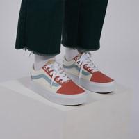 Twill Old Skool Platform Sneakers in Pastel/White