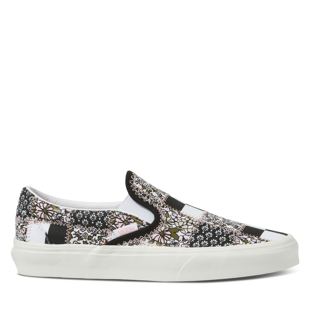 Patchwork Floral Classic Slip-On Sneakers