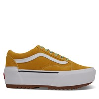 Multi Lace Old Skool Stacked in Platform Sneakers in Yellow/White