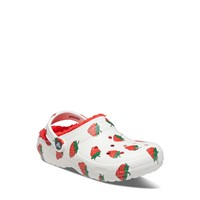 Classic Lined Strawberry Clogs in White/Red