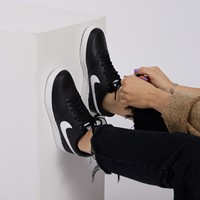 Women's Court Vision Low Sneakers in Black/White