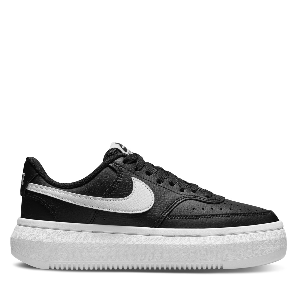 Women's Court Vision Alta Sneakers in Black/White