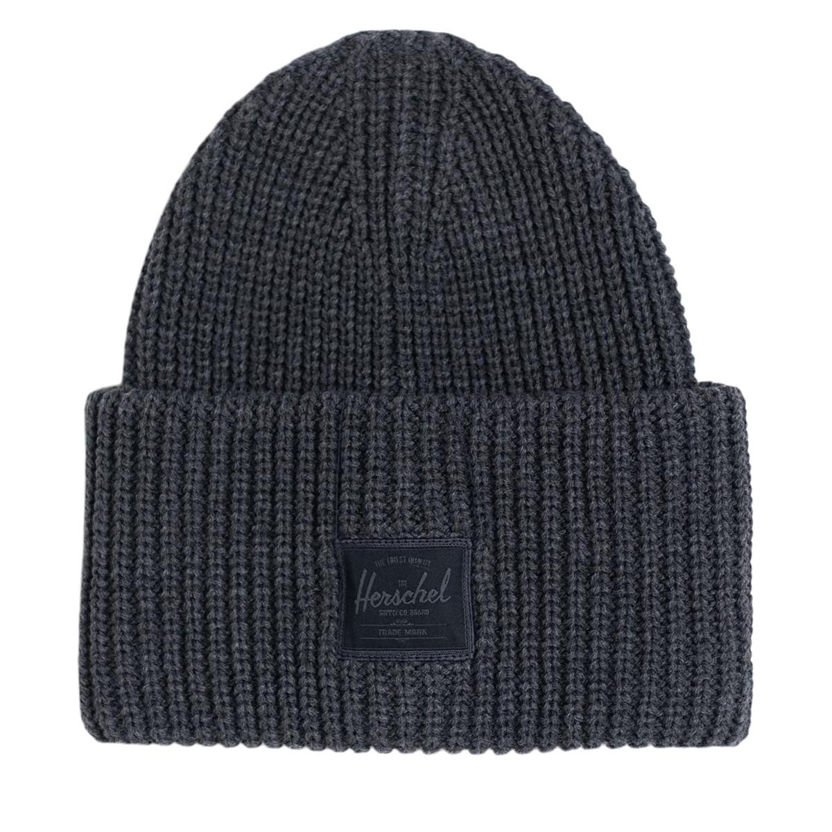 Juneau Rib Knit Beanie in Charcoal