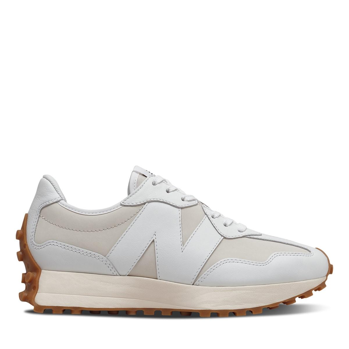 Women's 327 Sneakers in Light Beige/White