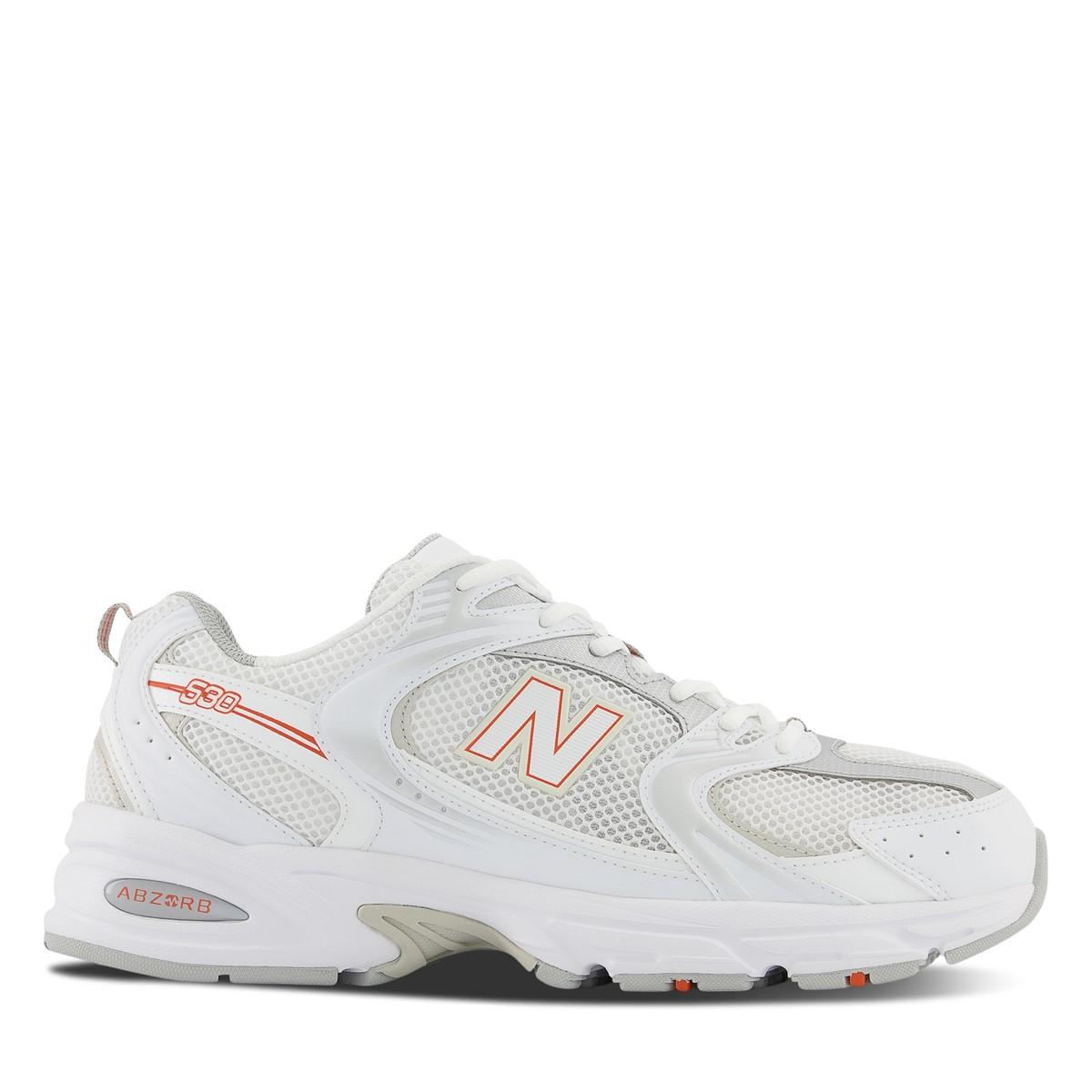 Women's 530 Sneakers in White/ Silver/ Orange