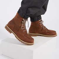 Men's Redwood Falls Waterproof Moc-Toe Lace up Boots in Brown