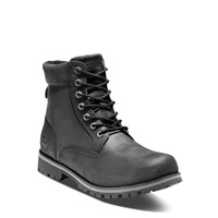 Men's Rugged Waterproof Lace Up Boots in Black