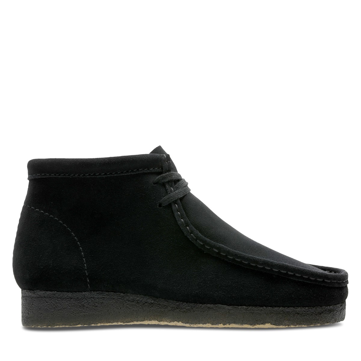 Men's Wallabee Moccassin Boots in Black