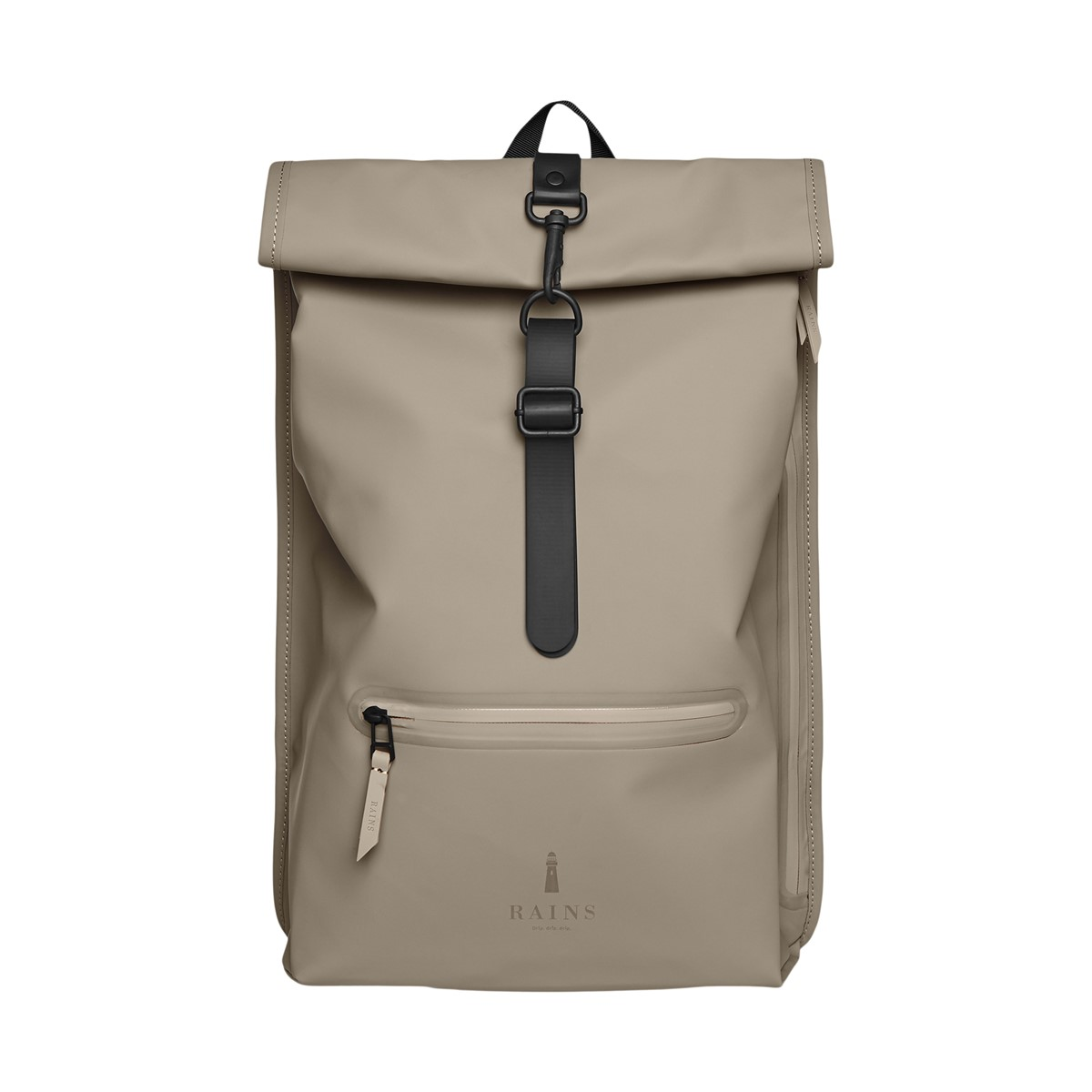 Rolltop Rucksack Backpack in Taupe