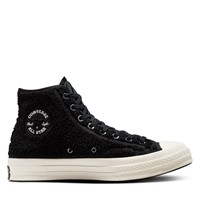 Chuck 70 Sherpa High-Top Sneakers in Black/White