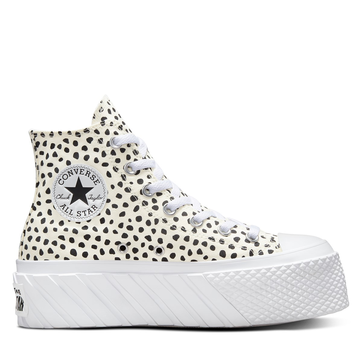 Women's Chuck Taylor All Star Lift X2 Platform High Top Sneakers in Black/ White
