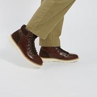 Bottes à lacets Liam brunes pour hommes