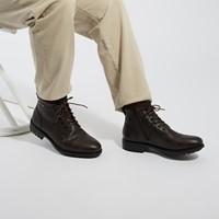Bottes à lacets Oliver brun foncé pour hommes