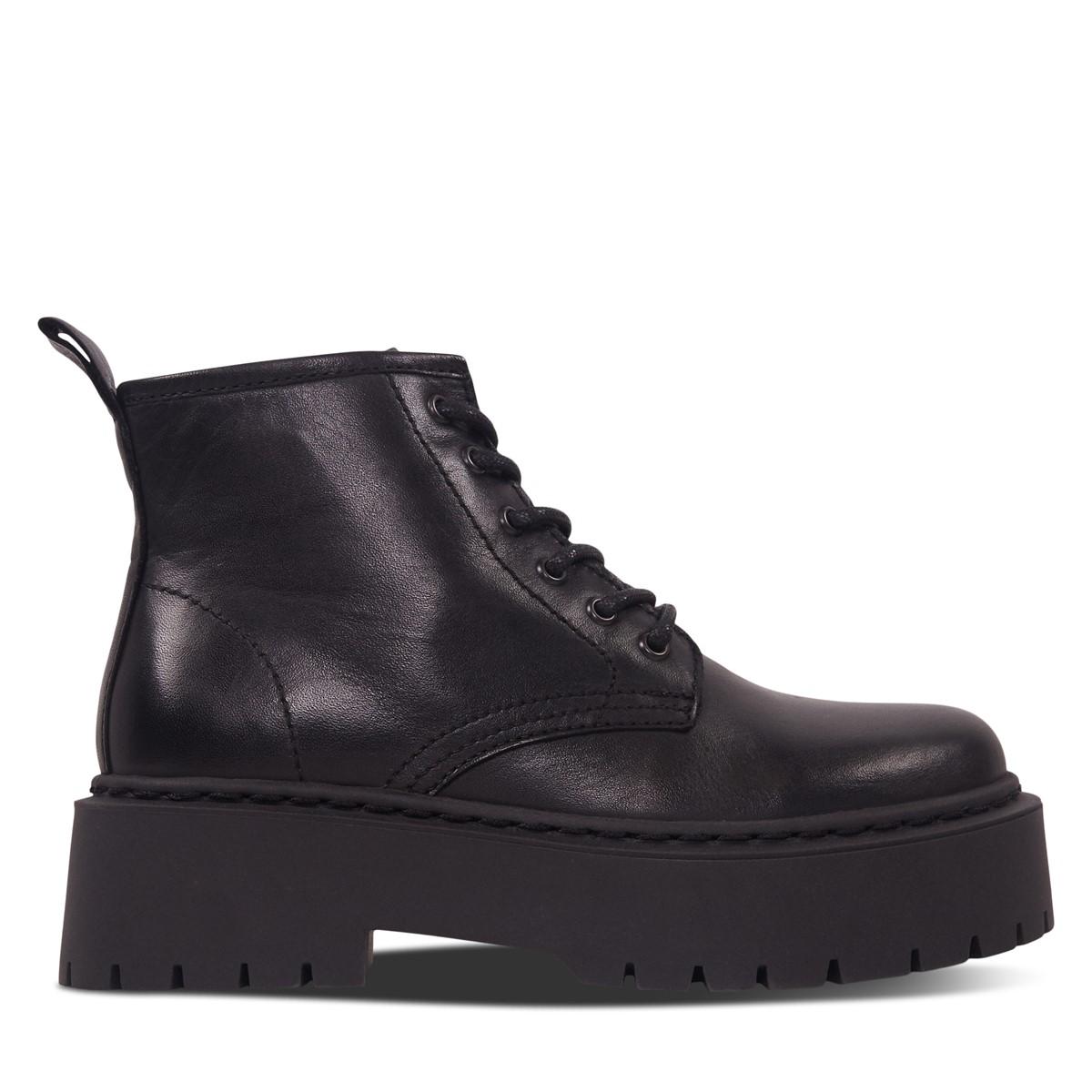 Women's Ines Platform Boots in Black