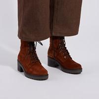 Women's Pauline Heeled Boots in Cognac