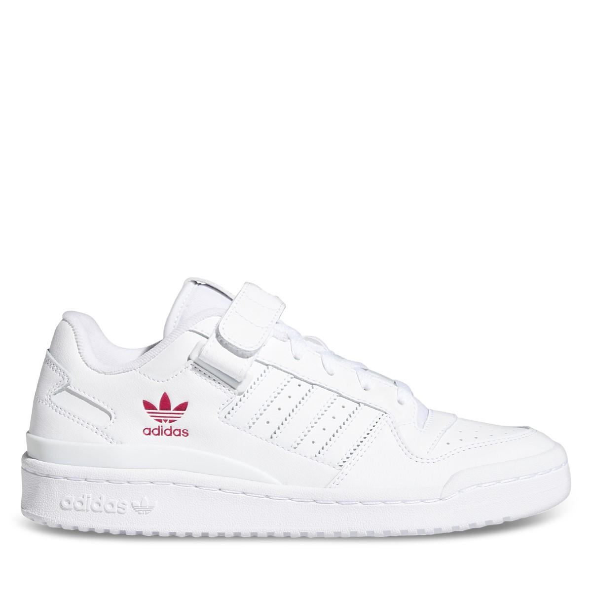 Women's Low Forum Sneakers in White/Pink