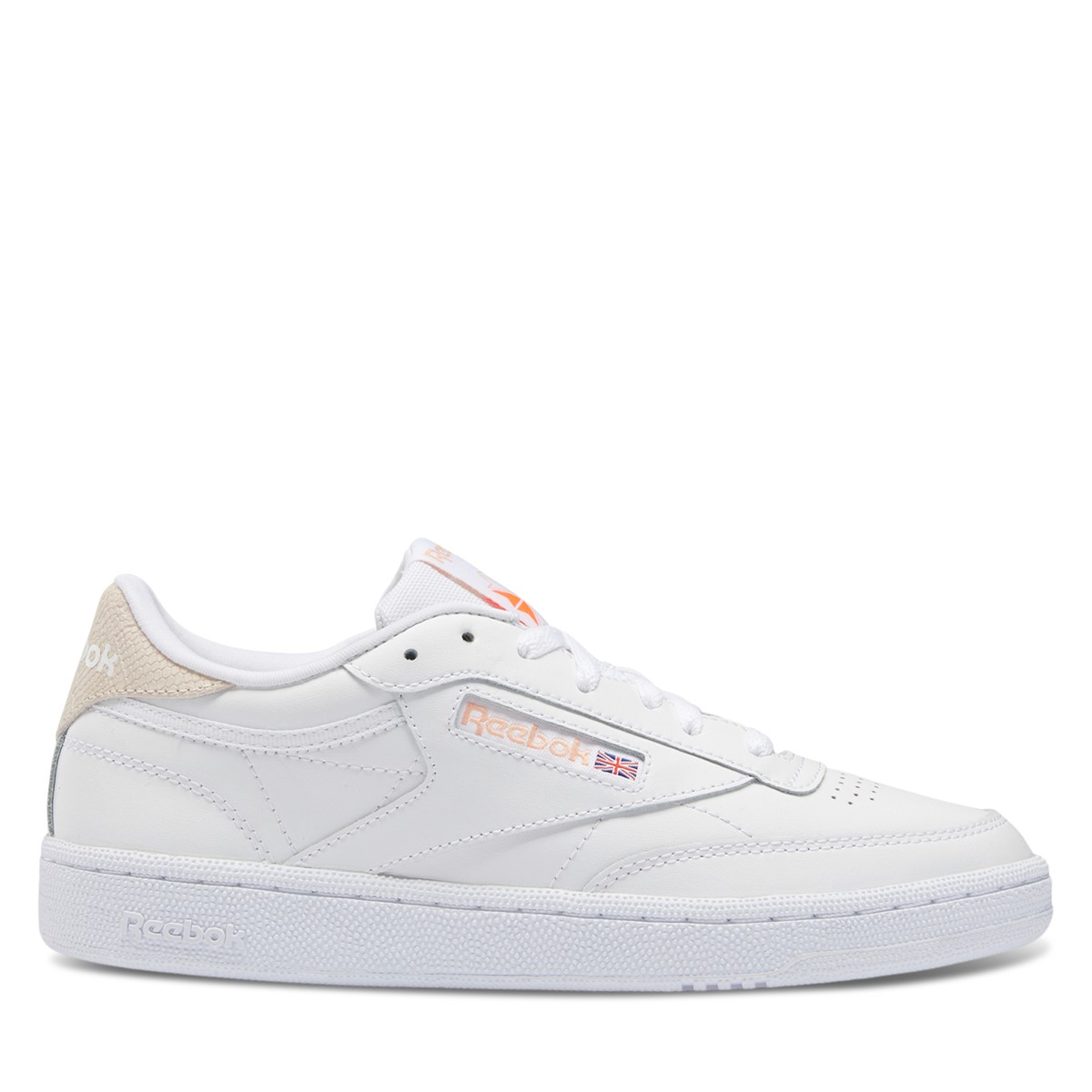 Women's Club C 85 Sneakers in White/Pink