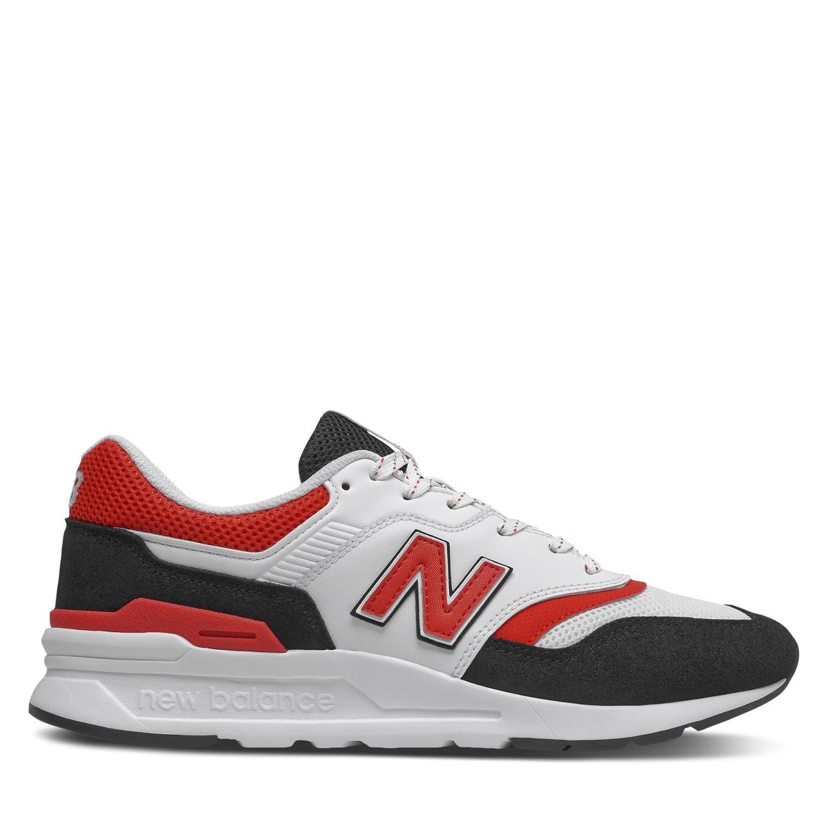 Men's 997HV1 Sneakers in White/Red/Black