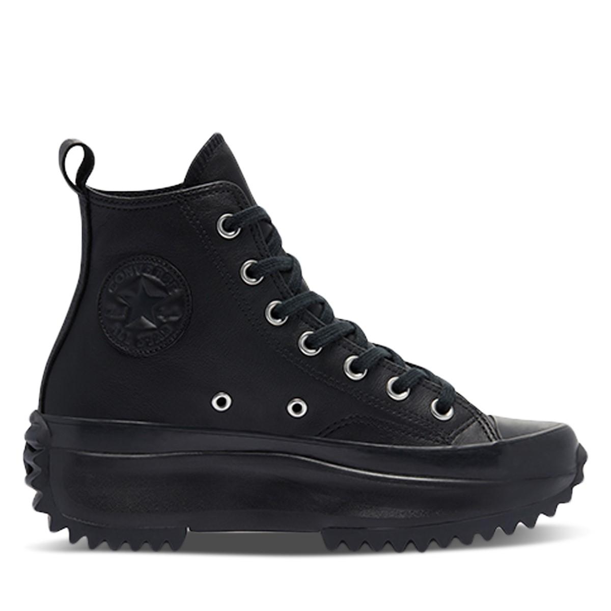 Run Star Hike Platform Sneakers in Black Leather