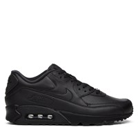 Men's Air Max 90 Leather Sneakers in Black