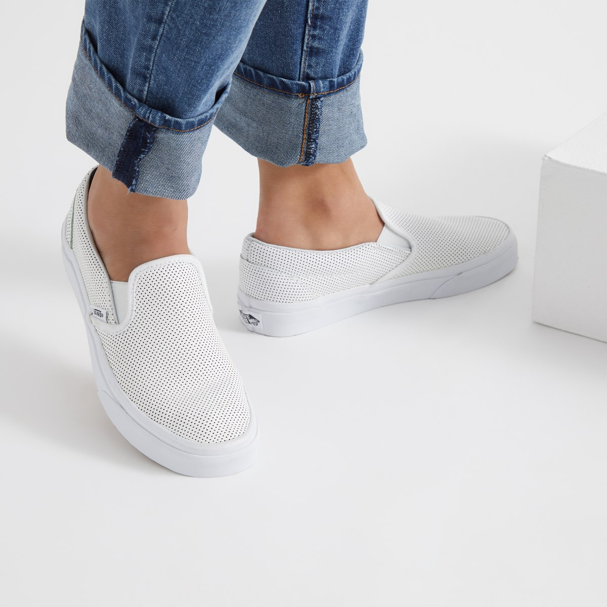 e688b2f01a Women s Classic Perforated Leather Slip-On. Previous. default ...