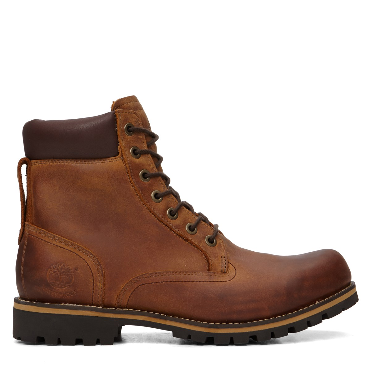 Men's Rugged 6 Plain Toe Boots in Brown